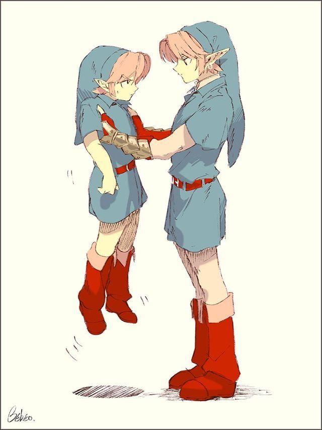 Link Child And Adult Legend Of Zelda Ocarina Of Time