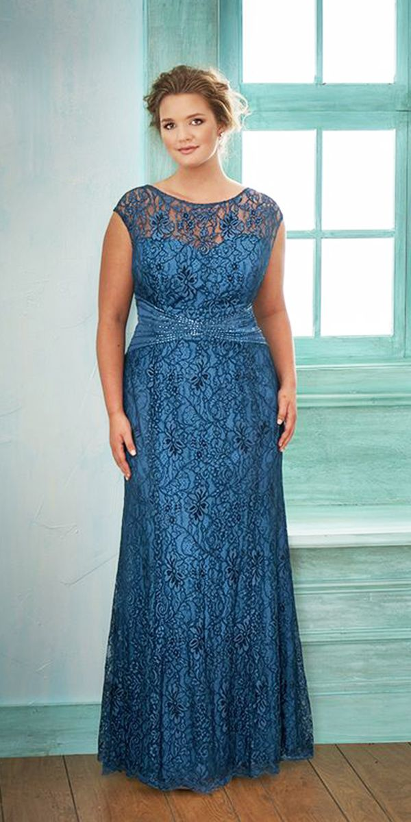 Torquese Plus Size Mother of Groom Dresses