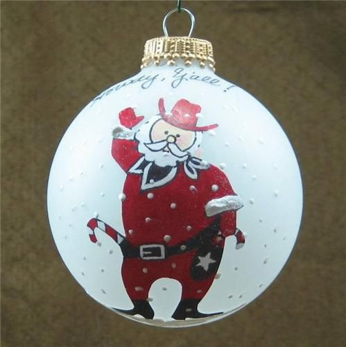 Cowboyt Santa Claus Western Texas Christmas ornament