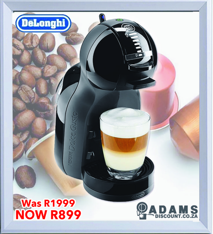 The new Nescafé Dolce Gusto system with its innovative design, prepares all the drinks you want, letting you choose between classic Italian espresso, chocolate, cappuccino and hot or cold tea among others. The versatile, stylish Mini Me is now available in a variety of colours at Adams for a low R899! (Was R1999)