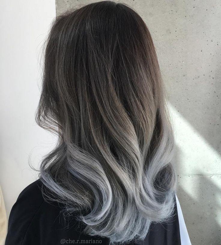 Brown To Gray Ombre Hair