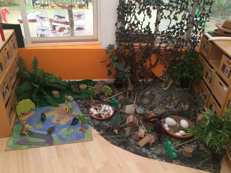 Dinosaur land small world role play imaginary area eyfs