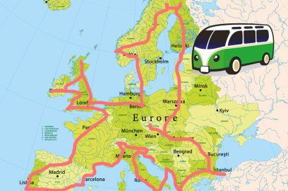 Europa im Auto: Der optimale Roadtrip mit 50 Attraktionen – mit Karte
