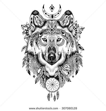 Tatouages De Loup 935324009739 on deer head tattoo