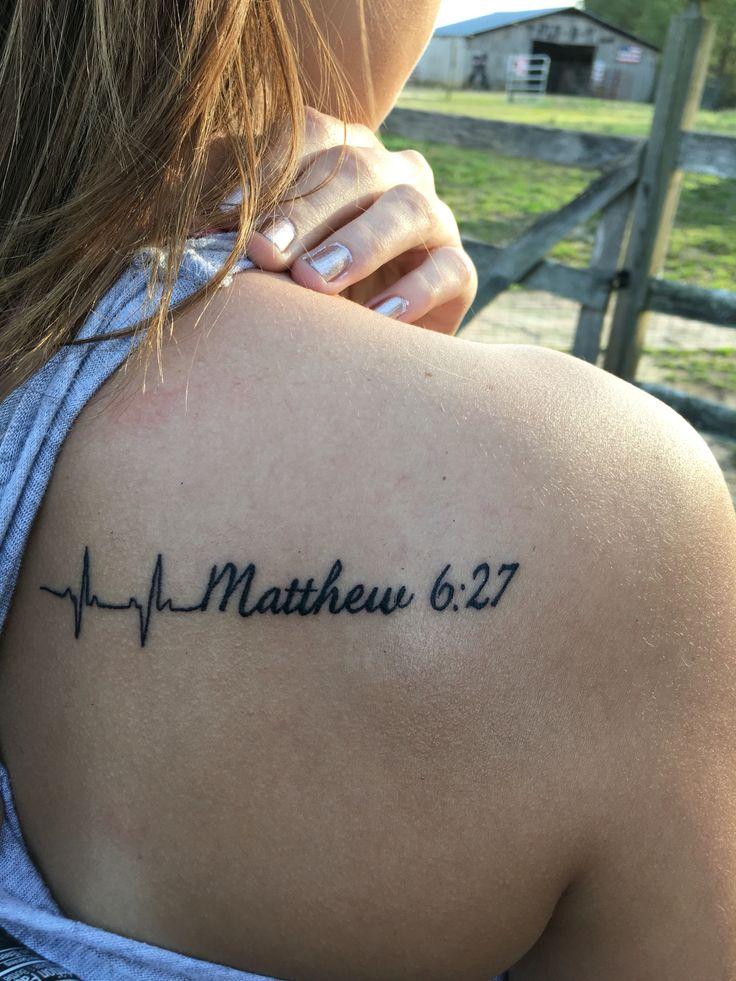 Shoulder tattoo simple | Ink | Bible verse tattoos, Bible ...