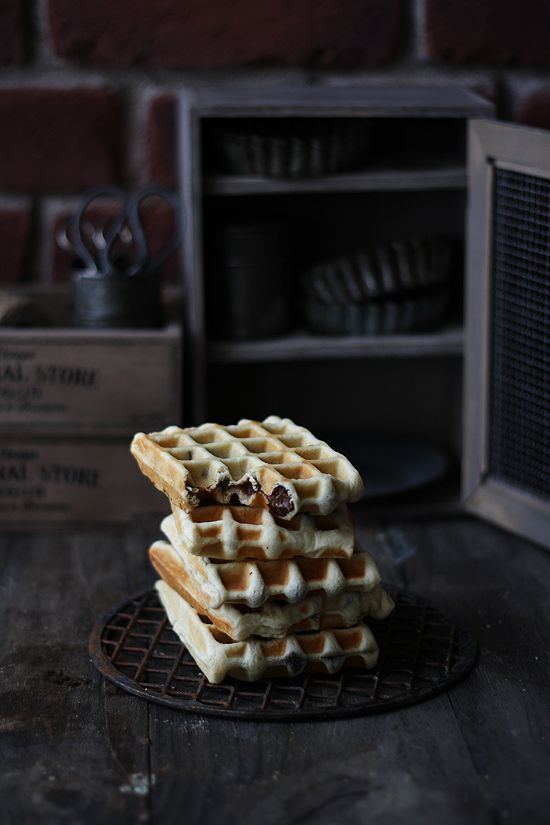 Nutella filled Liege Waffles