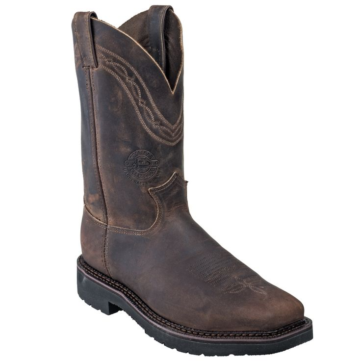 Justin Boots Men's 4517 USA-Made J-Max Caliber Steel Toe Pull-On Work