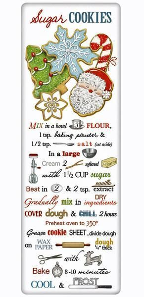 The true workhorse of any kitchen; the flour sack dish towel. Designed by Mary Lake Thompson, featuring a recipe for traditional Christmas Sugar Cookies.