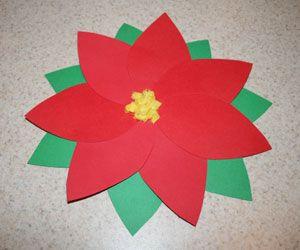 paper poinsettia preschool craft