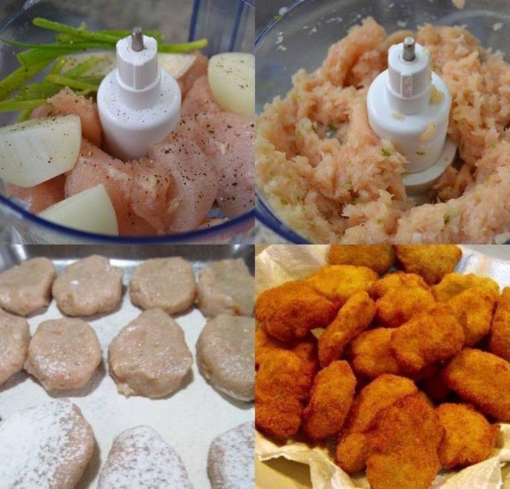 Aprenda fazer a Receita de Nuggets de Frango Caseiros. É uma Delícia! Confira os Ingredientes e siga o passo-a-passo do Modo de Preparo!