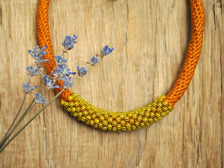 Excited to share the latest addition to my #etsy shop: Mustard yellow necklace Boho Soft knit necklace Cotton yarn necklace with beads Crochet tube jewelry Coworker jewelry gift for her Christmas http://etsy.me/2hPtzHC #ukraenie #oerele #oranevyj #no #girls #yes #eltyj #rodestvo