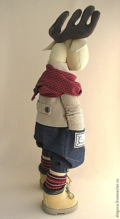 Купить Лось Эштон - лось, игрушка лось, стильная игрушка, стильный подарок, стильный
