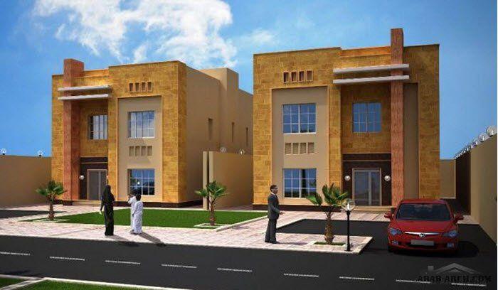 خطة فلل الصالحية بحي القيروان مساحة كل فيلا 240م مربع Duplex Plans House Styles Mansions