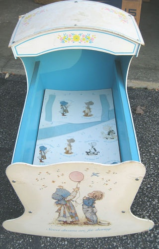 Vintage Holly Hobbie Cradle-Doll Baby Bed...I had this!!!!!!!!!!!