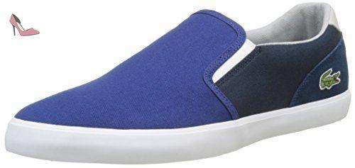 Lacoste Jouer Slip-ON 217 1, Basses Homme, Bleu (Bleu), 42.5 EU - Chaussures lacoste (*Partner-Link)