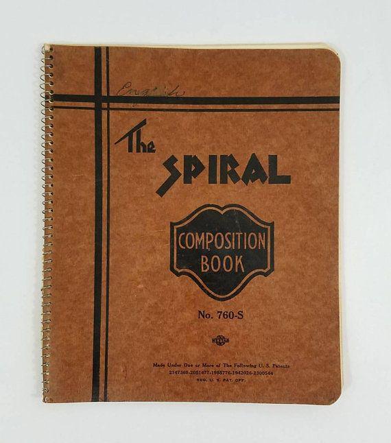 Vintage Spiral Notebook Vintage Paper Vintage Paper Composition Book Paper