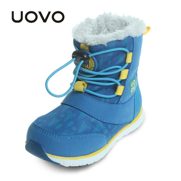 26.25$  Watch now  - Uovo Brand Boys Snow Boots Mid-calf Warm Winter Boots Little or Big Kids Waterproof Botas Light Snowshoes Footwear Size 23-30