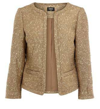 Gold contrast edge jacket