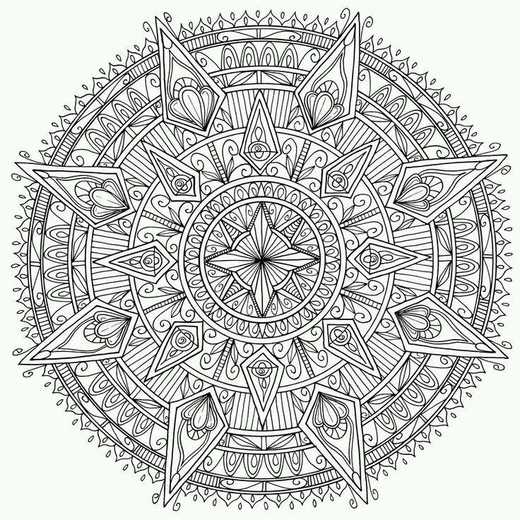 Büyükler Için Boyama Sayfaları Indir Yerigeldicom Mandala