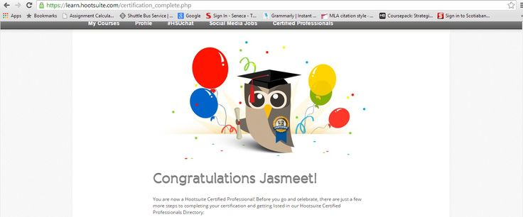 Oh Yes!! I am Hootsuite certified. Spread the word! :P :D  #MKM915 #PersonalBranding