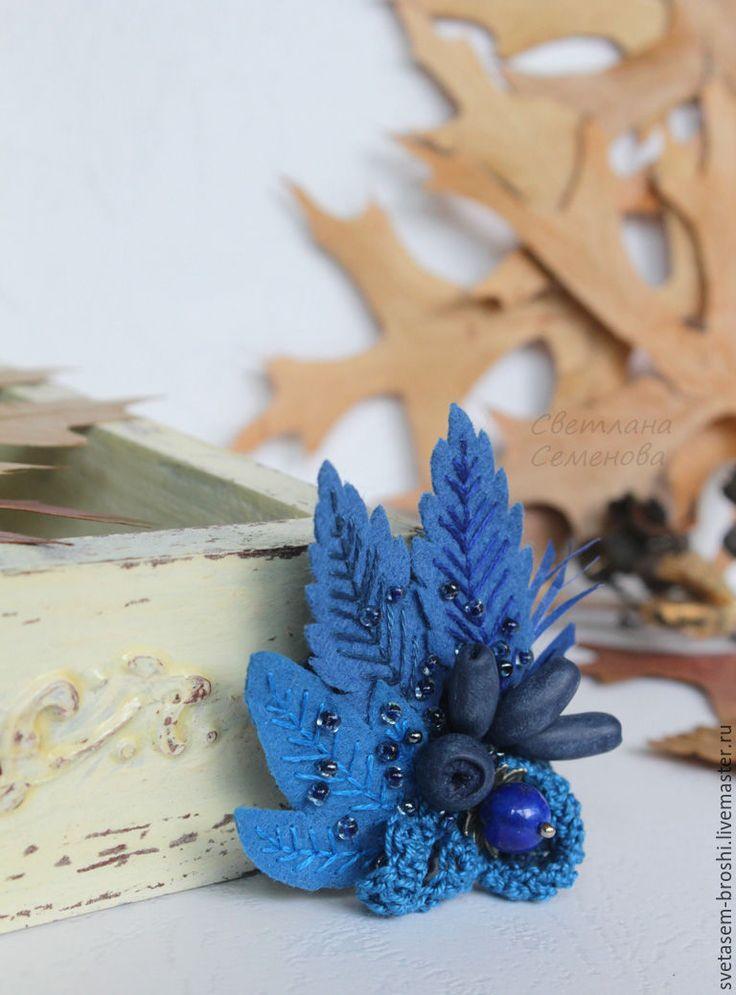 Купить Брошь Букет Поздняя Жимолость - семенова светлана, брошь авторская, букет…