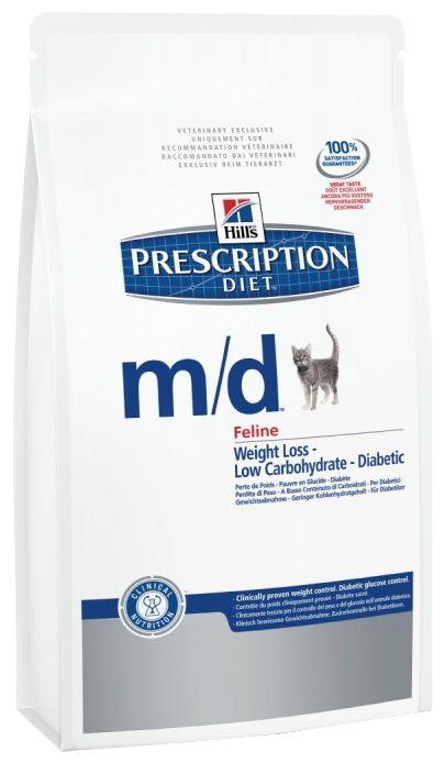 Хиллс сух.1,5кг Д/кошек M/D сахарный диабет/контроль веса