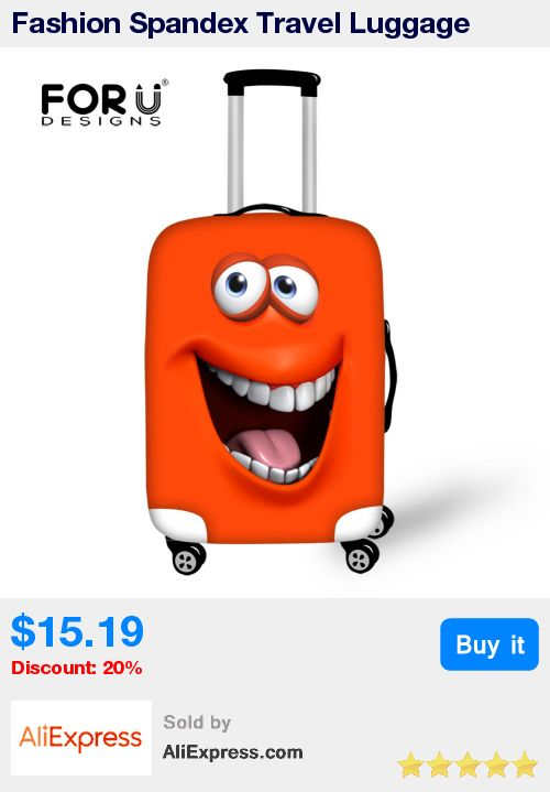 Fashion Spandex Travel Luggage Cover Emoji Smile Face Print Elastic Luggage Cover for 18-30 inch Anti-dust Suitcase Cover Zipper * Pub Date: 01:58 Apr 20 2017