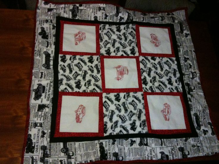 I am black and white and red all over a small lap quilt for Austins  over Australia
