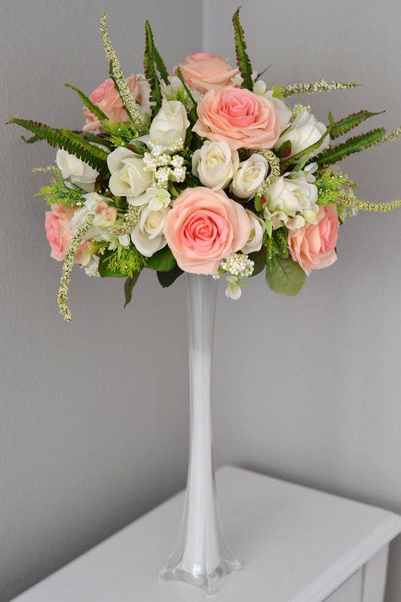 Wedding centerpiece set eiffel tower vase with pink