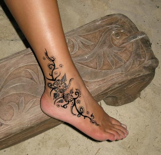 tribal ankle tattoos