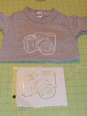 Freezer Paper Stencil T-SHIRTS - Something to do with Matthew in Summer