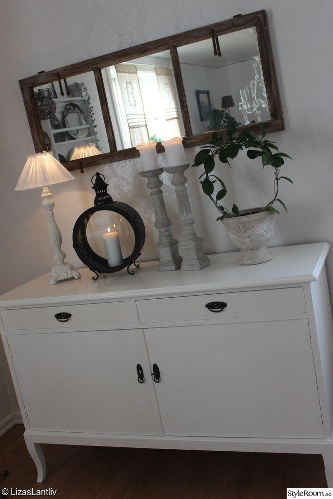 skänk,gamla möbler,målning,makeover,vitt