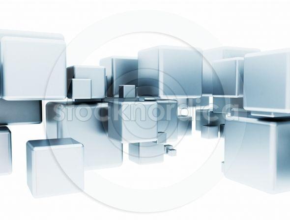 3D abstract aluminium cubes . http://www.stocknordica.com/image/3d-abstract-aluminium-cubes/