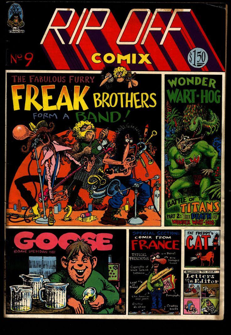 RIP OFF COMIX #9 Freak Brothers Wonder Warthog Fat Freddy's Cat Shelton Sheridan Mavrides Willem Dope Drug Humor Hippie Underground*
