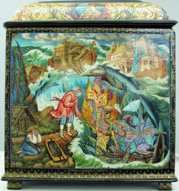 Molodkin Denis Vladimirovich, Mstera lacquer box, Pushkin's fairy tales, 4