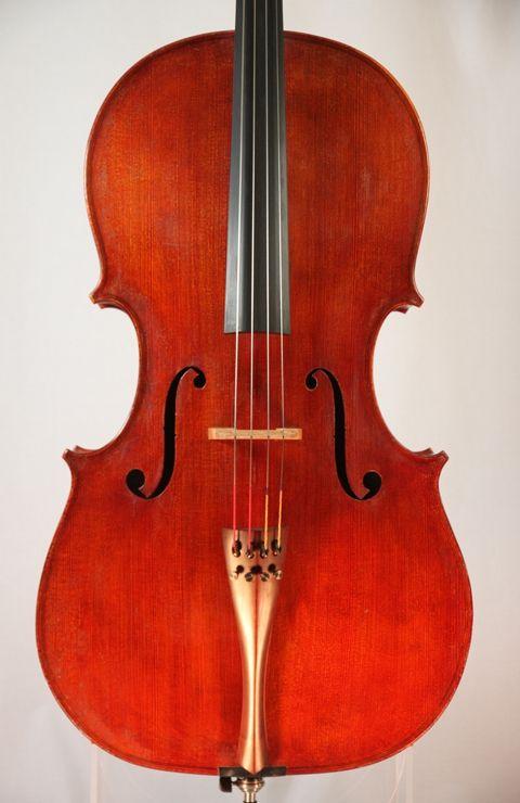 Catalog of fine cellos for sale, including a cello by Hans and Nancy Benning, by old and modern master cello makers including Italian cellos, for cellists and cello players.
