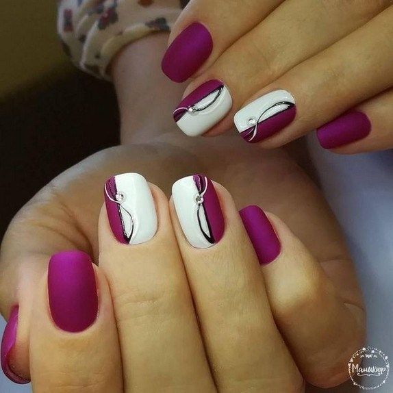 Wedding nails for bride gel 00018