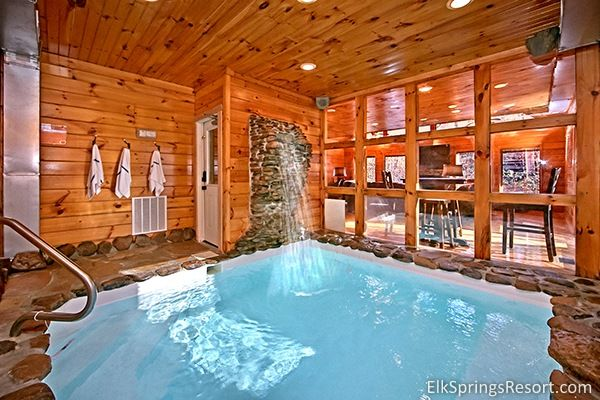 Splashin Hideaway Pool Cabin in Gatinburg - a 2 bedroom luxury cabin with private indoor pool
