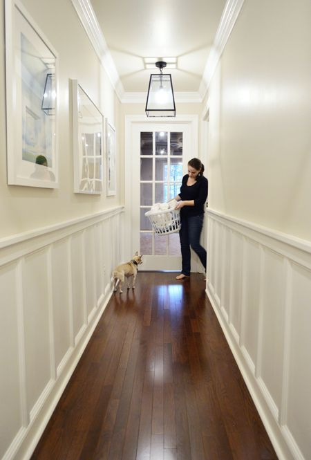 Decking The Halls With Fancy Molding Hallway