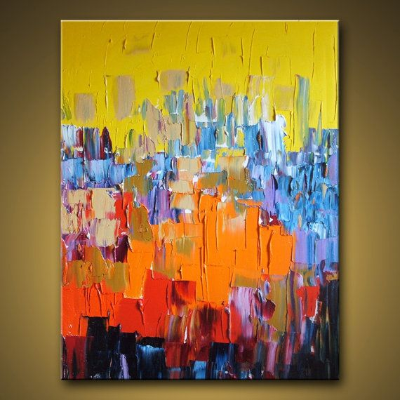 Huge Custom Painting  Original Large Abstract Modern Art door MICART