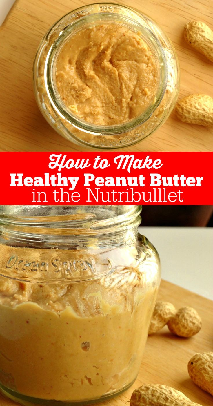 This really is the easiest and fastest way to make healthy peanut butter at home. This recipe uses just one ingredient (peanuts!) and literally takes less than 30 seconds to make, thanks to the Nutribullet. An awesome kitchen gadget you absolutely have to own!