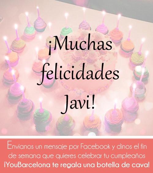 ¡Muchas felicidades Javi! #YouBarcelona