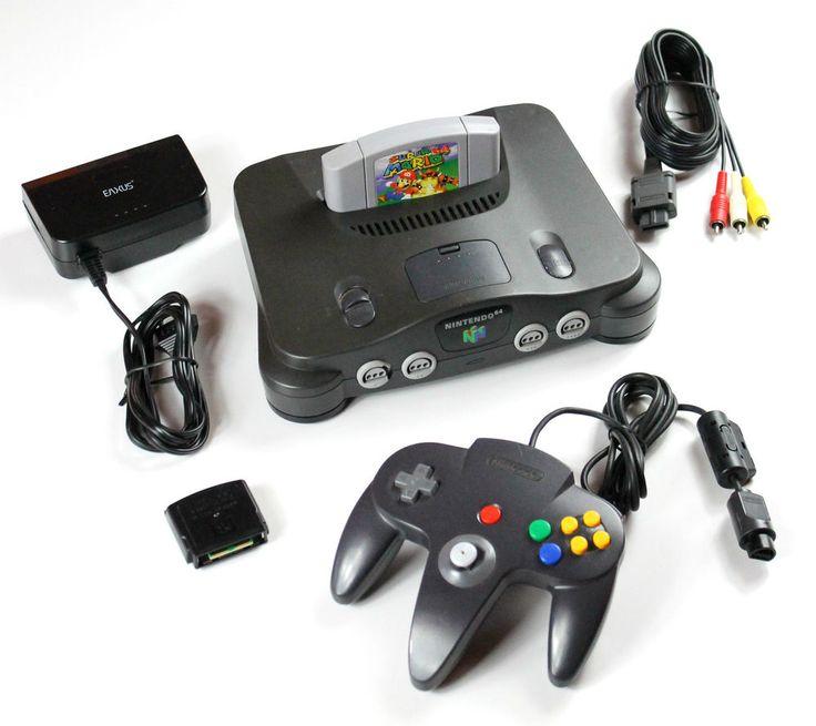 Nintendo 64 N64 Konsole+Kabel+1 Nintendo Controller+Jumper Pak+Super Mario 64