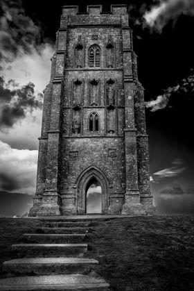 St Michaels Church Glastonbury - stock photo