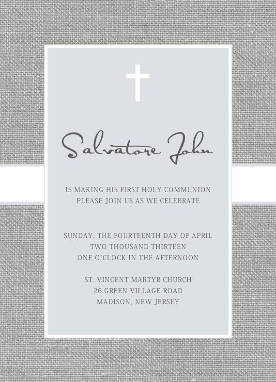 Baptism or First Communion Invitation