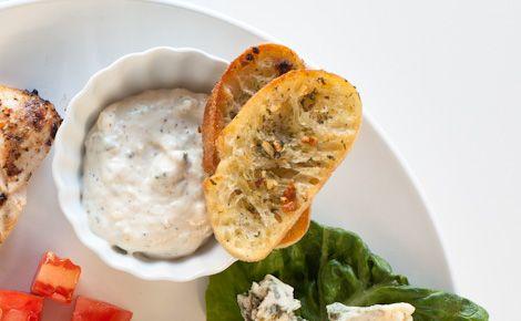Chicken Delicious - Summer Cobb Salad Night: Epicure's Crusty Garlicky Dill Bread