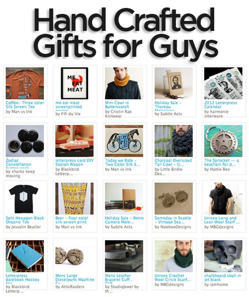Hand-Crafted Gifts for Guys! #giftguideGift Guide, Crafts Ideas, Gift Ideas, Gifts Crafts, Hands Crafts Gift, Cool Ideas, Handcrafted Gift