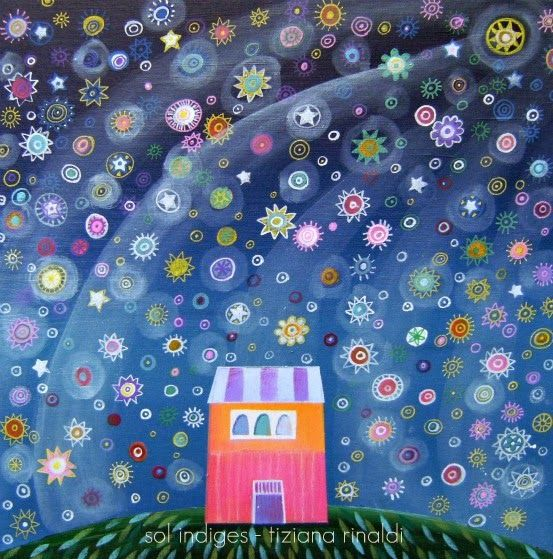 Sol Indiges - Tiziana Rinaldi - #art #painting #night #solstice