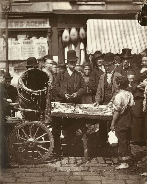 The Cheap Fish of St-Giles. From 'Street Life in London', 1877, by John Thomson and Adolphe Smith.