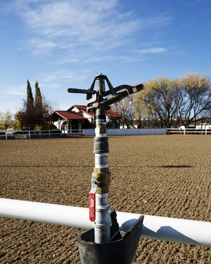 A dust control system we installed at Spruce Meadows.  #hvservices #yyc #calgary #yychomes #lawncare #irrigation #yyclife #sprucemeadows